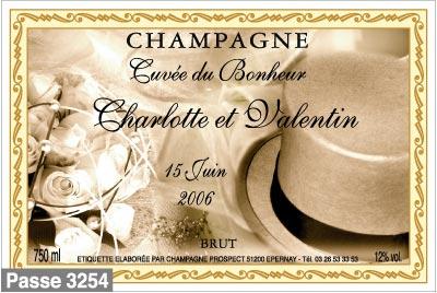 quelques modles - Etiquette Bouteille Champagne Mariage